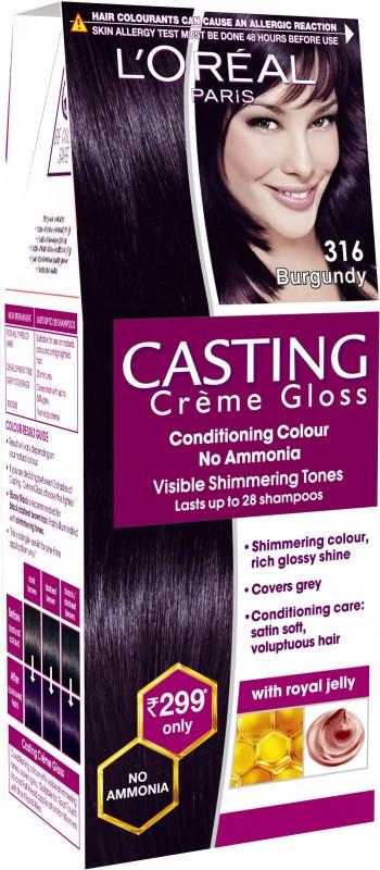 LOreal Paris Casting Creme Gloss Hair Color(316 Burgundy)