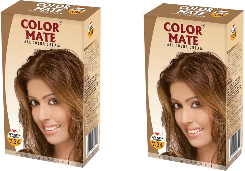 Color Mate Cream Hair Color(Golden Brown)