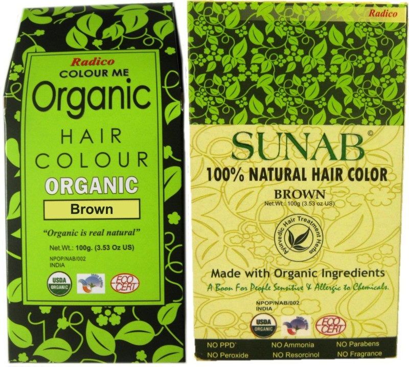 Radico Sunab (Combo) Brown Hair Color(Green, Beige)