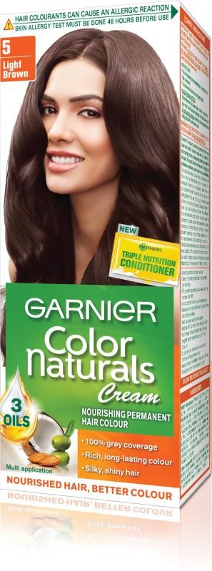 Garnier Color Naturals Regular Shade 5 Hair Color(5 Light Brown)