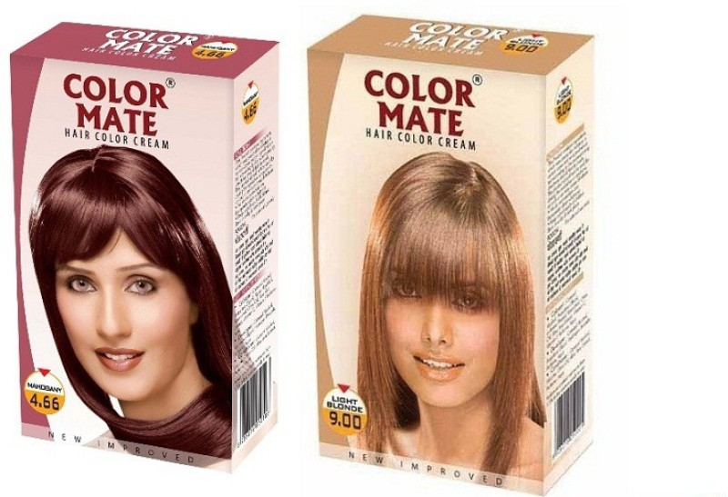 Color Mate Cream Hair Color(Mahogany + Light Blonde)