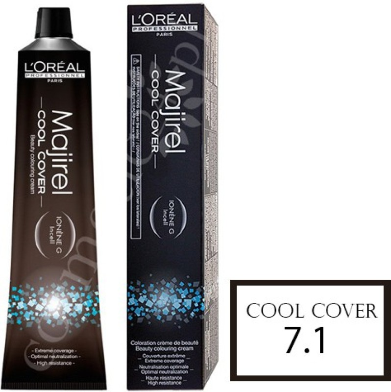 LOreal Professionnel Majirel Cool Cover Hair Cream Hair Color(7.1 Ash Blonde)