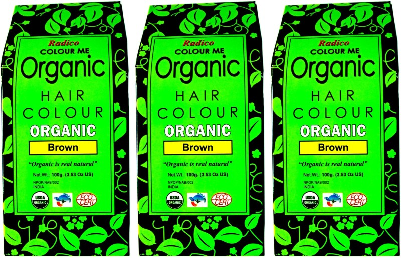 Radico Certified Organic & 100% Natural- (Set Of Three Box) Hair Color(Brown)