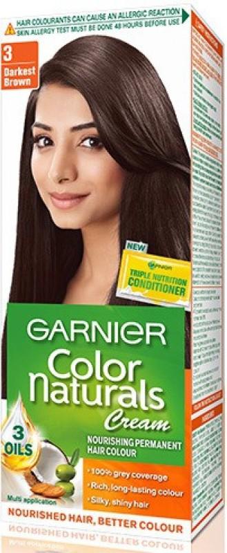 Garnier Color Naturals Hair Color(Darkest Brown - 3)