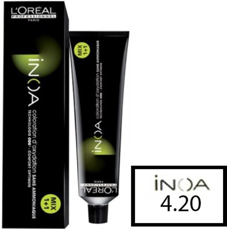 L'Oreal Paris Inoa  Hair Color(4.20 Extra Burgundy Brown)