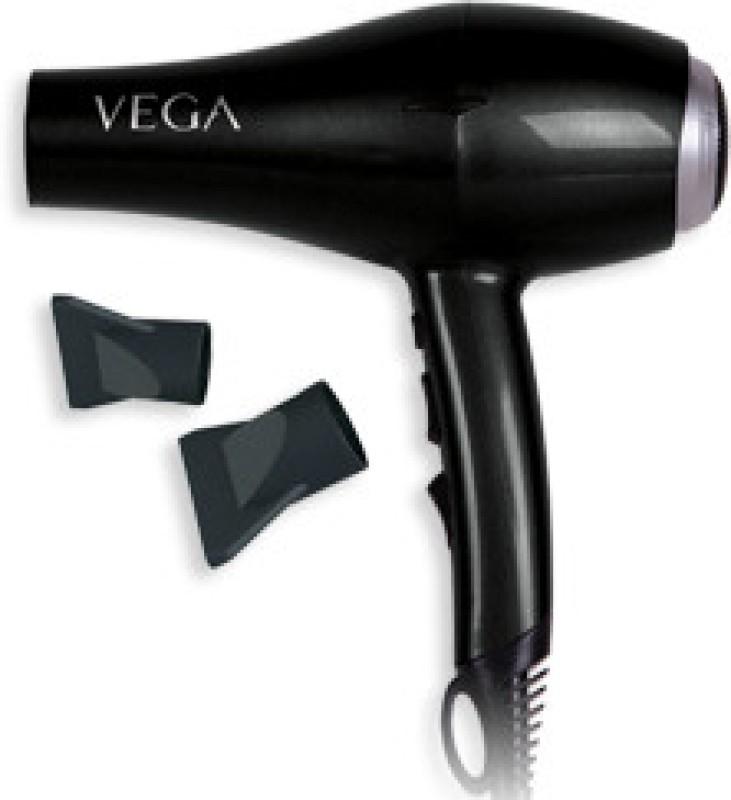 Vega Salon Xpert 1800-2000 VHDP-01 Hair Dryer(1800 W, Black)