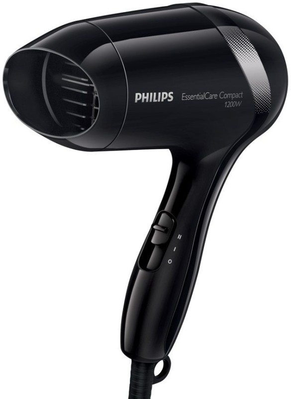 Philips Compact Essential Care 1200 Watts BHD 001 Hair Dryer(1200 W, Black)