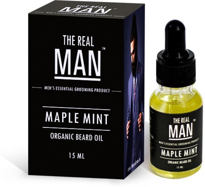 The Real Man Organic Beard Oil Maple Mint Hair Oil(15 ml)
