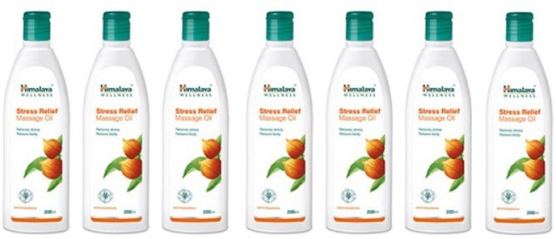 Himalaya STRESS RELIEF MASSAGE OIL (PACK OF 7) Hair Oil(1400 ml)