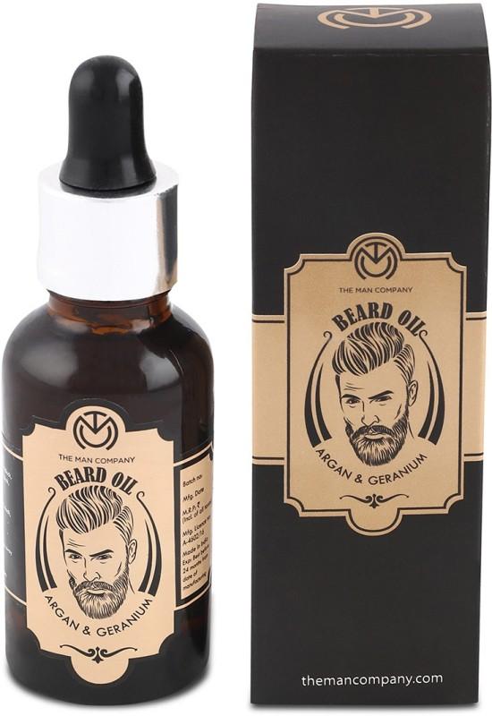 The Man Company Beard Oil- Argan & Geranium Hair Oil(30...