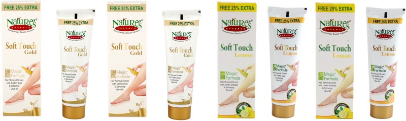 Natures Essence Soft Touch Gold and Lemon Hair Removal Cream 50 Gram 4Pcs Cream(200 g)