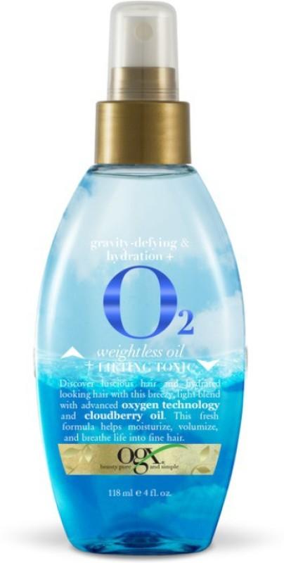 OGX gravity-defying & hydration+O2 Weightless Oil+Lifting Tonic Hair Styler