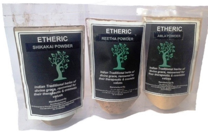 Etheric Amla + Skikakai + Areethaa- Hair Treatment Kit(150 g)