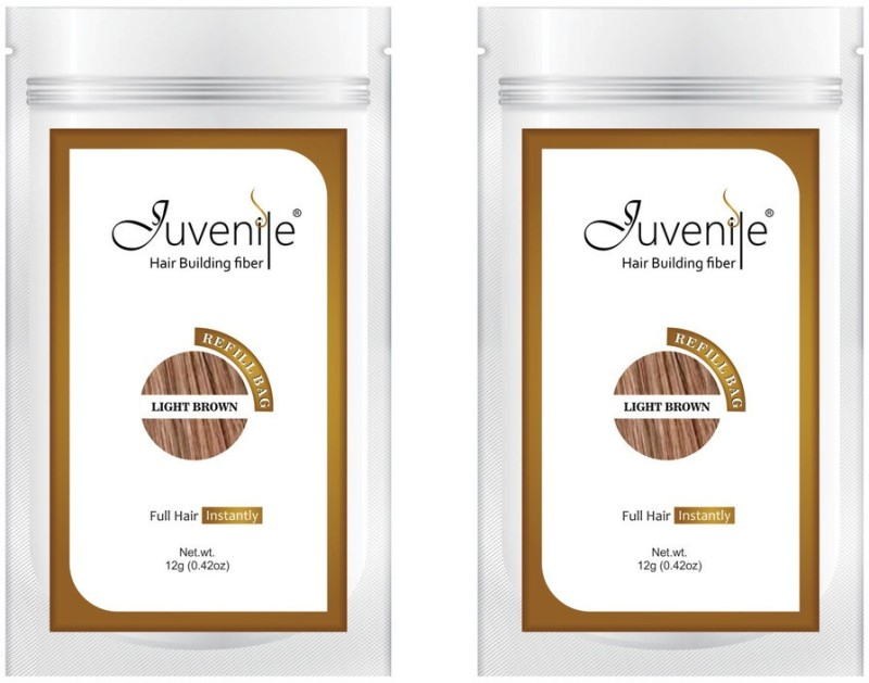 Juvenile Hair Building Fiber Pack Of Two Light Brown Refill Bag(12 g)