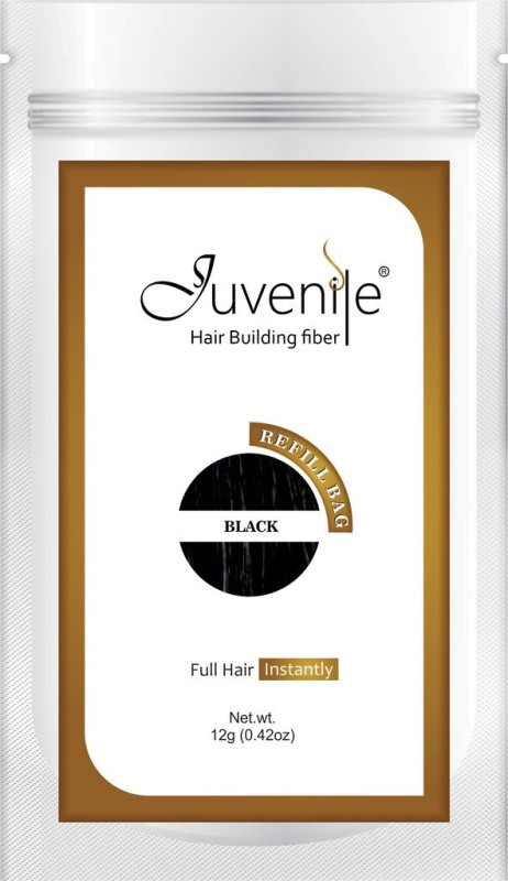 Juvenile Hair Building Fiber Works for Hair Fall Refill Bag Black(12 g)