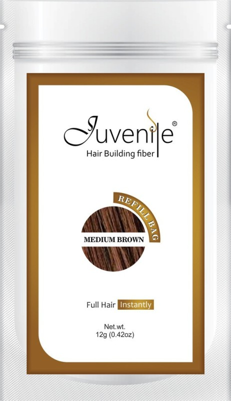 Juvenile Hair Building Fiber Refill Bag Medium Brown 12gm(12 g)
