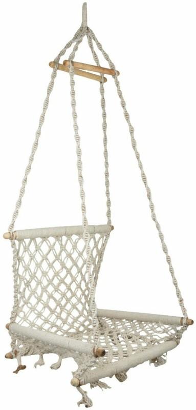 Curio Centre Jute Swing(White)