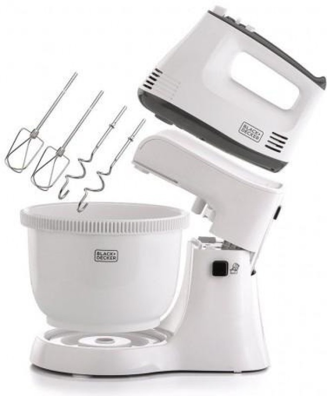 Black & Decker M700 300 W Stand Mixer(White)