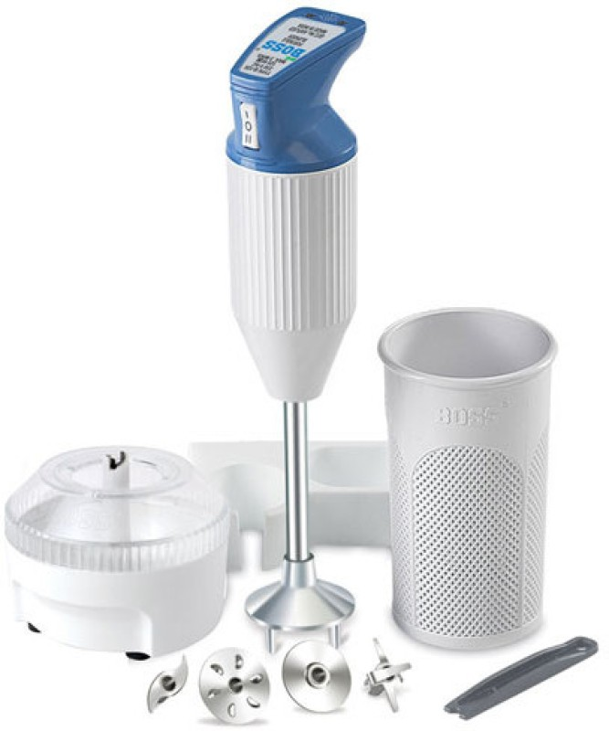 Boss Big Boss Portable Hand Blender(White, Blue)