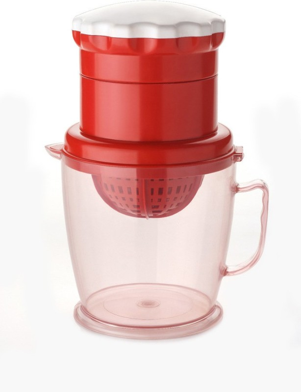 J.K. Steel Two in One Plastic Hand Juicer(Red Pack of 1)