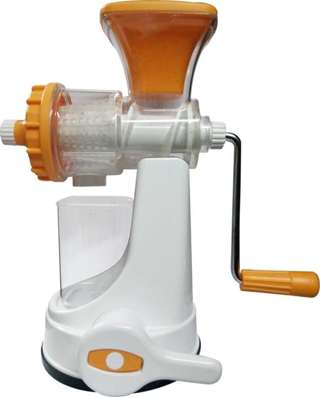 Golddust s Ganesh Manual Fruit and Vegetable Plastic Hand Juicer(White, Orange Pack of 1)