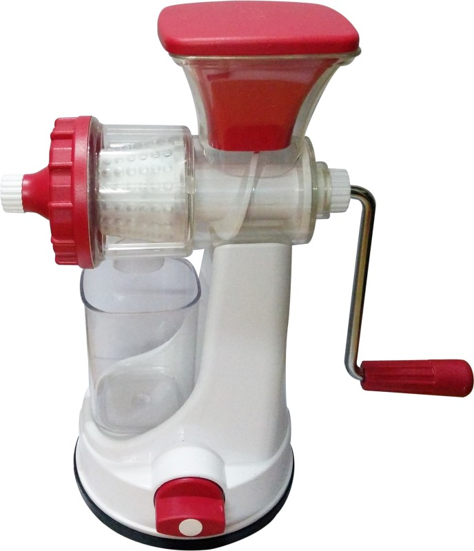 Golddust s Ganesh Manual Fruit and Vegetable Plastic Hand Juicer(White, Red Pack of 1)