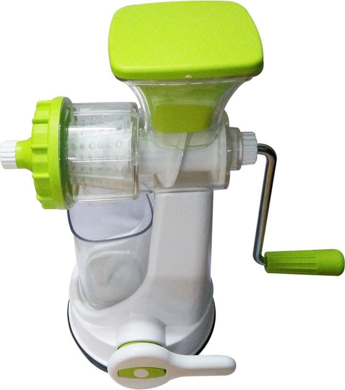 Golddust s Ganesh Manual Fruit and Vegetable Plastic Hand Juicer(White, Green Pack of 1)