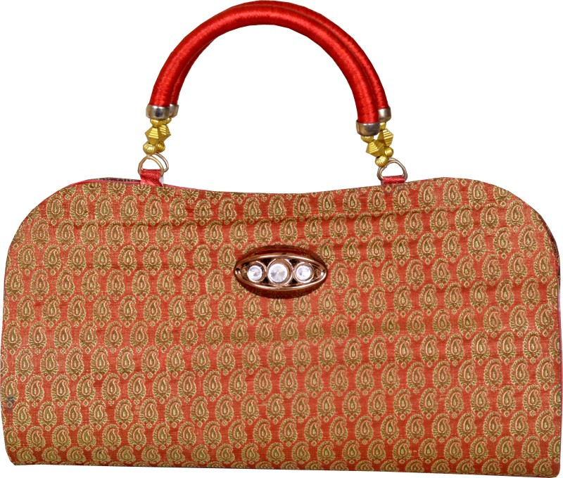 Maitri Women Orange Hand-held Bag