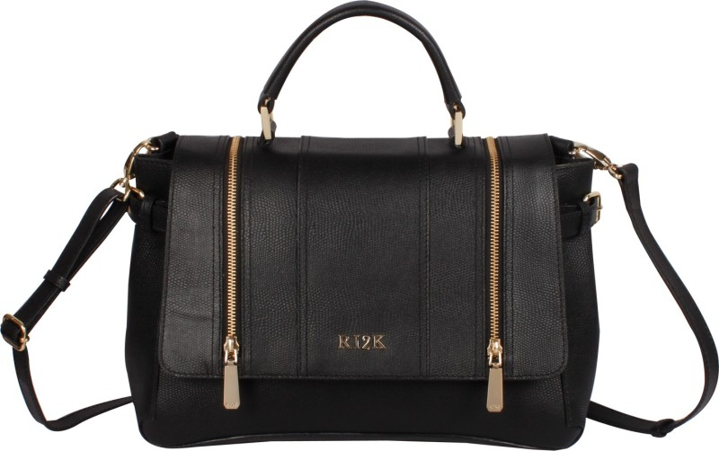 RI2K Women Black Satchel