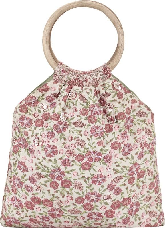 Miruna Designs Women Pink, Beige Hand-held Bag