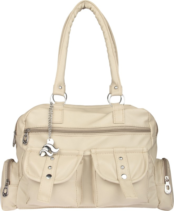 Lady bar Women Beige Hand-held Bag