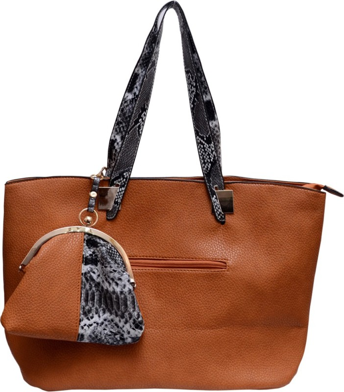 Tanishka Exports Women Brown Tote