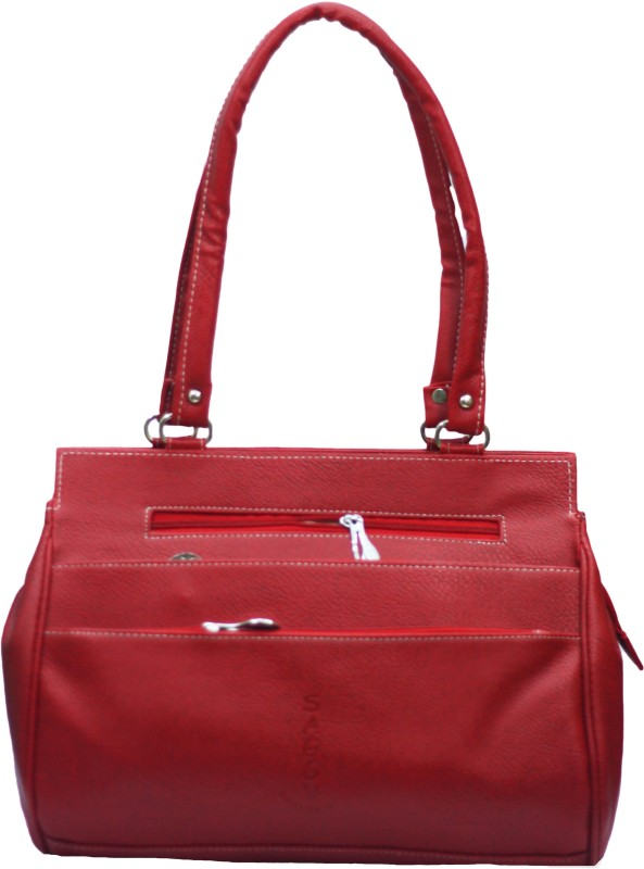 VS Creation Women Red Shoulder Bag