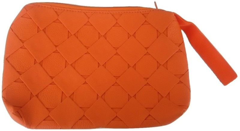 Viva Wristlet Cosmetic Bag(Orange)