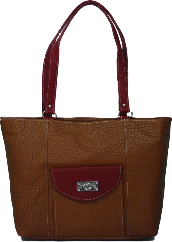 VS Creation Women Brown, Beige Tote