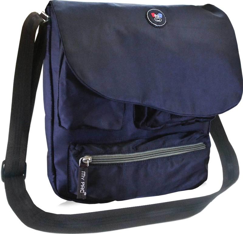 My Pac Db Men & Women Black Messenger Bag