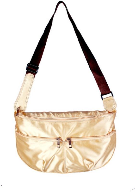 Rambler Women Gold Messenger Bag