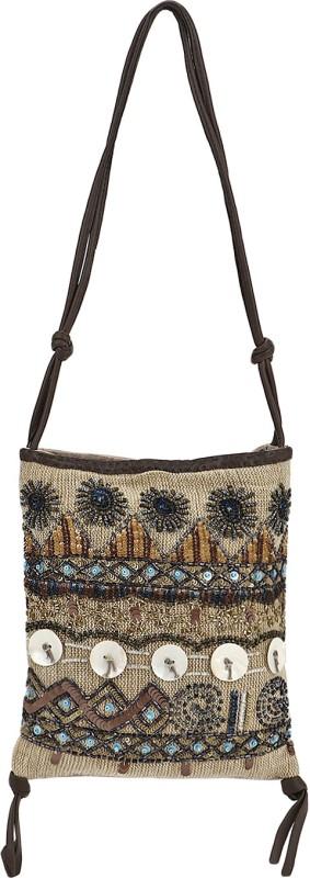 Nandeetas Women Beige Messenger Bag