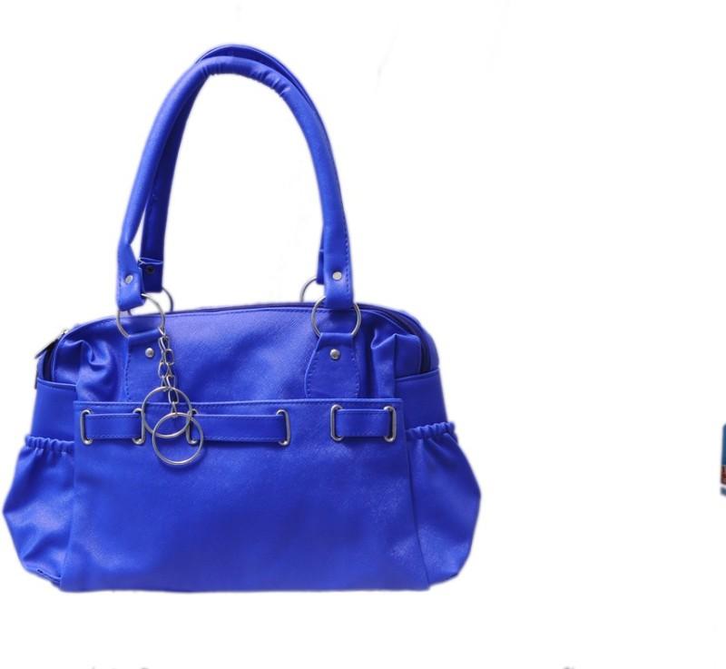 Attractive Women Blue Shoulder Bag