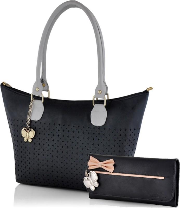 Butterflies Hand-held Bag(Black)