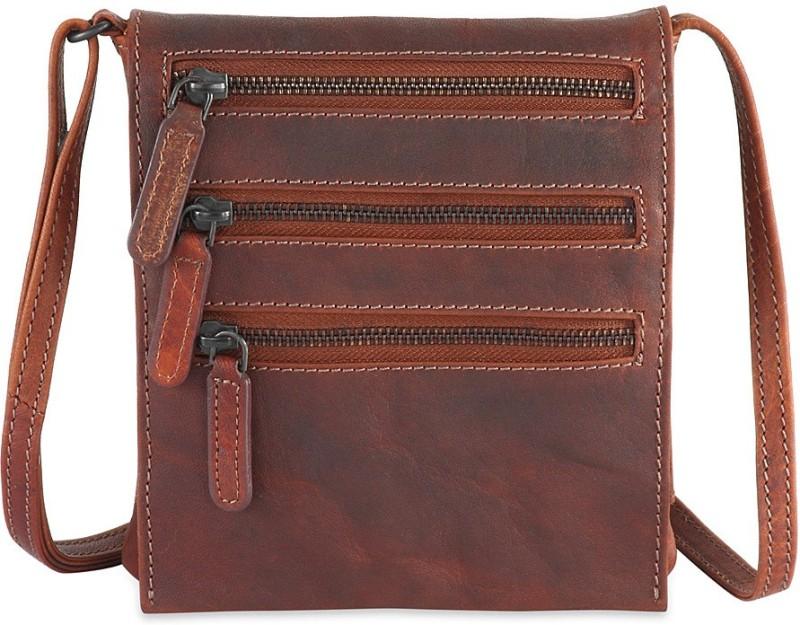 Goodwill Leather Art Men Brown Messenger Bag