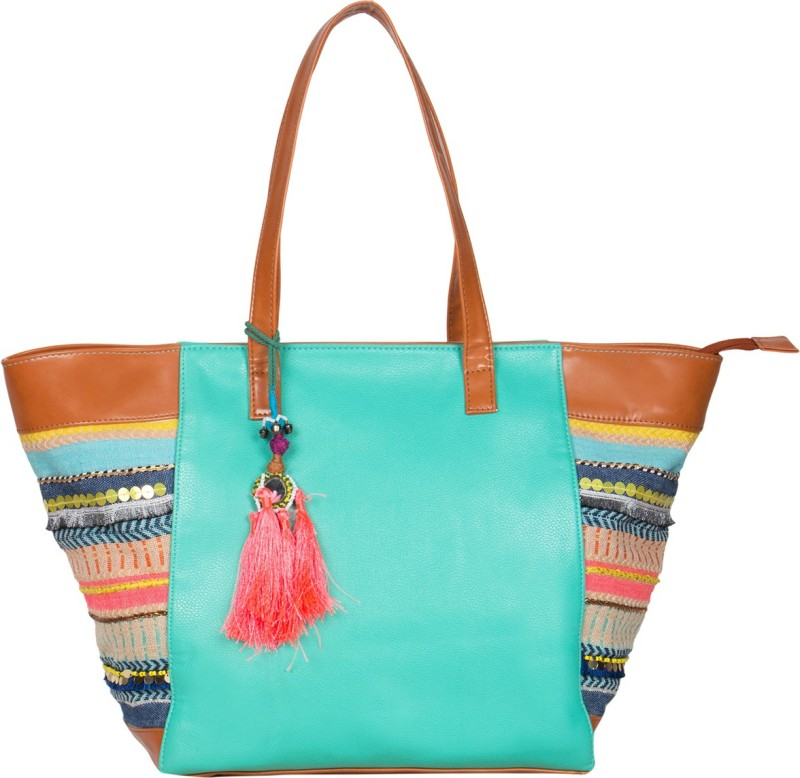 Desi Drama Queen Women Green Tote