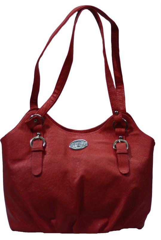 VS Creation Women Red Shoulder Bag