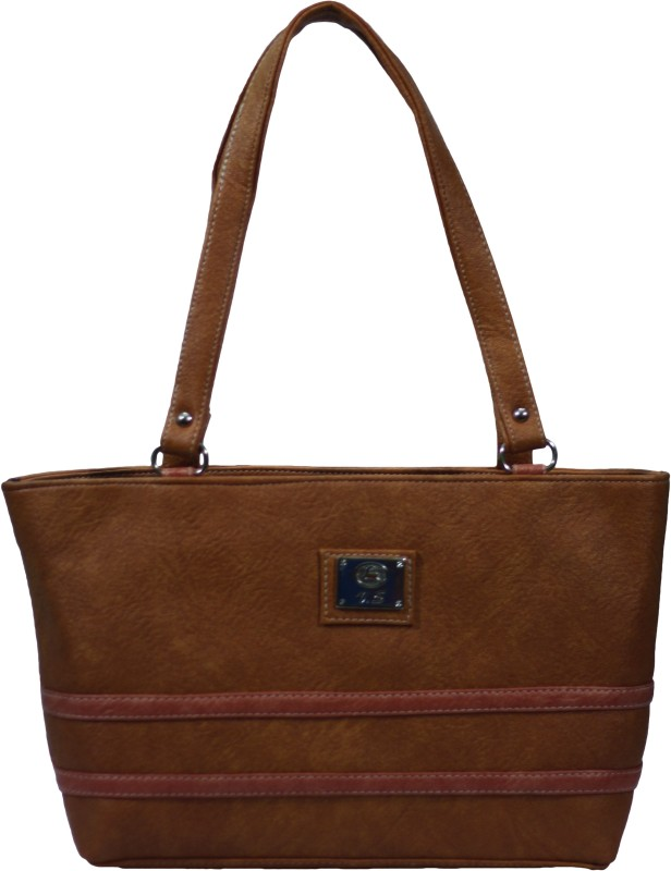 VS Creation Women Brown Shoulder Bag