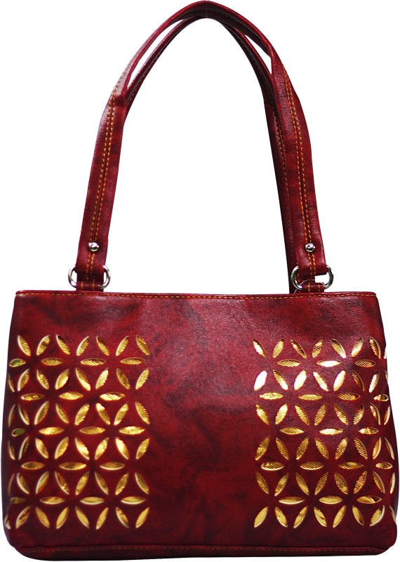 VS Creation Women Maroon Shoulder Bag