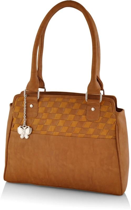 Butterflies Hand-held Bag(Tan)