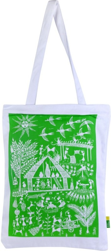 Eco Corner Women Green Shoulder Bag
