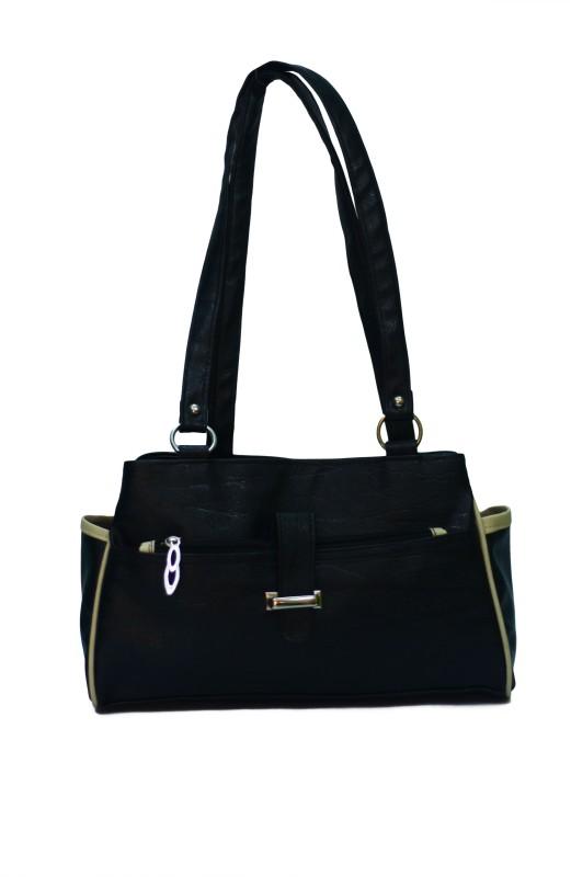VS Creation Women Black Shoulder Bag