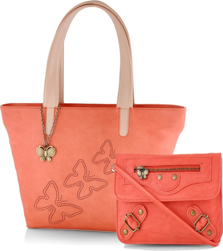 Butterflies Hand-held Bag(Orange)