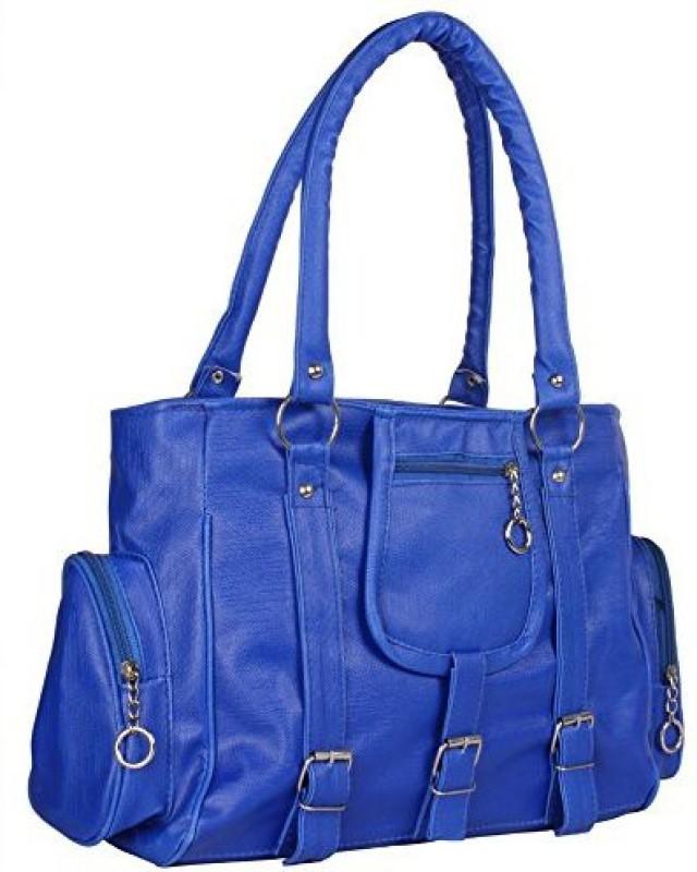 Vintage Women Blue Messenger Bag